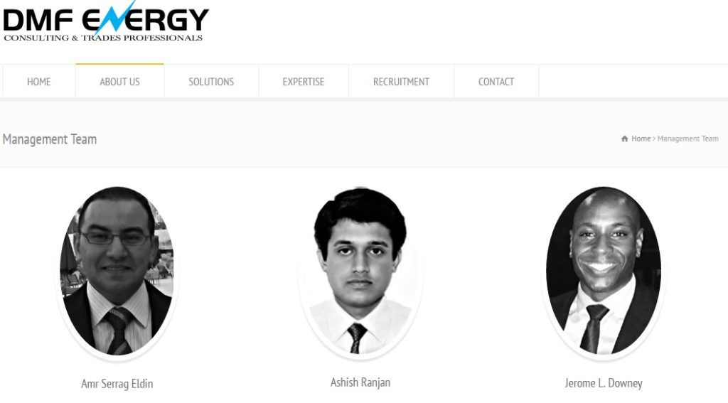 DMF Energy Inc - Team